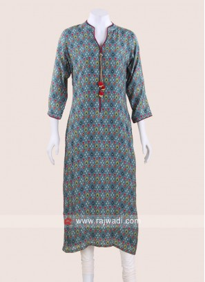 Silk Straight Fit Kurti