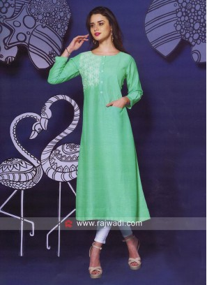 Silk Thread Work Kurti