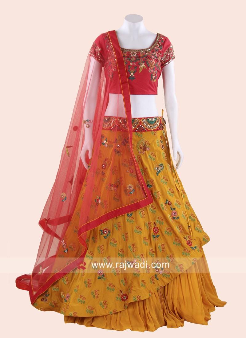 Silk Thread Work Layer Lehenga Set