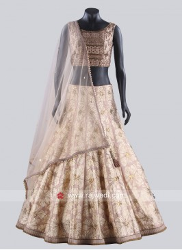 Silk Thread Work Lehenga Choli