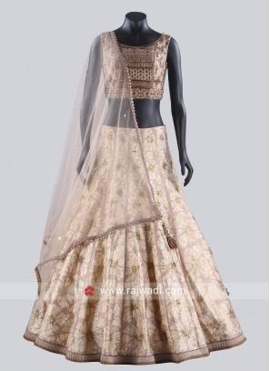 Silk Thread Work Lehenga Choli