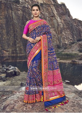 Silk Thread Work Patola Saree