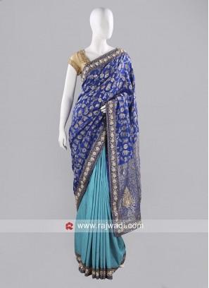 Silk Two Tone Designer Sari