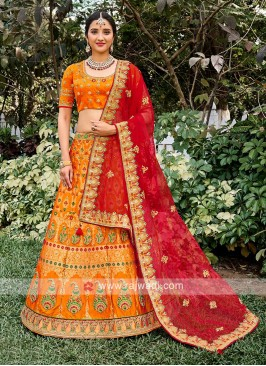 Silk Unstiched Lehenga Choli