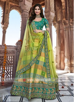 Silk Unstitched Heavy Lehenga Choli