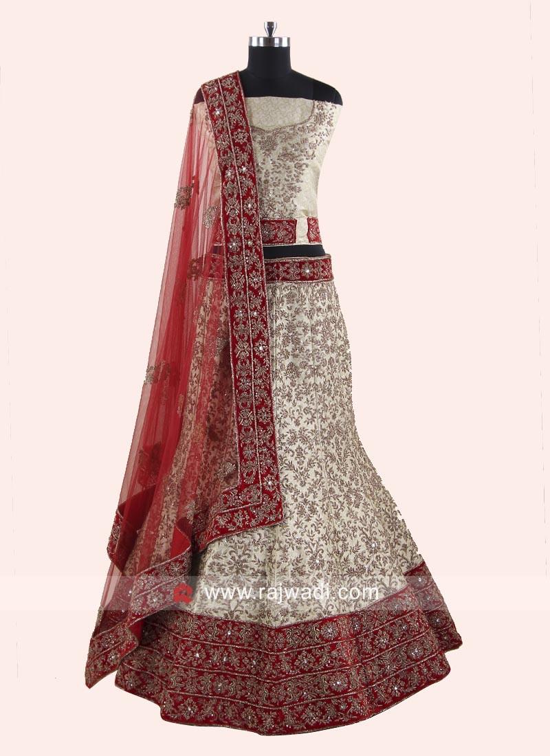 Silk Heavy Work Lehenga Choli for Bride