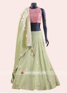 Silk Weaving Lehenga with Dupatta