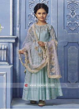 Silk Wedding Anarkali for Girls