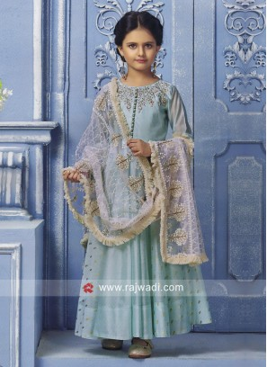 Silk Wedding Anarkali for Girls