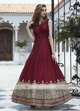 Silk Wedding Anarkali Salwar Kameez