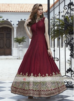 Silk Wedding Anarkali Salwar Kameez