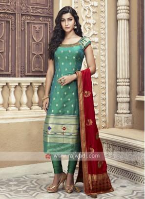 Silk Wedding Churidar Suit