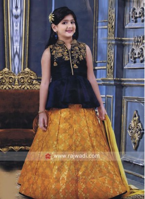 Silk Wedding Kids Lehenga Set