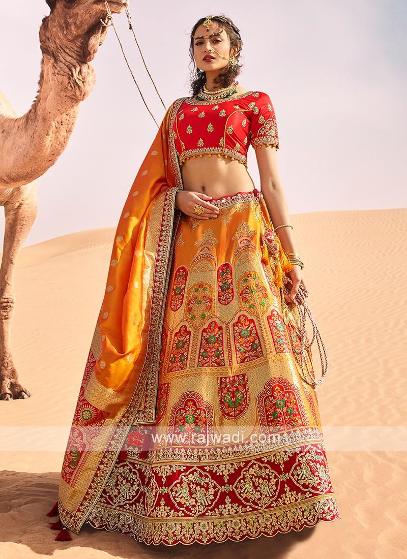 Silk Wedding Lehenga Choli