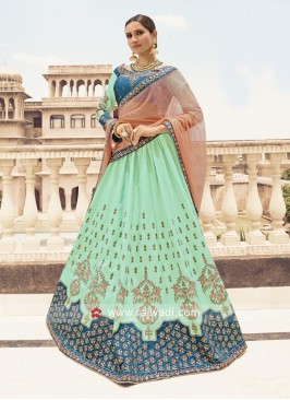 Silk Wedding Lehenga Choli with Dupatta