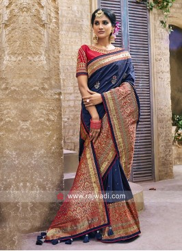 Silk Wedding Saree with Blouse