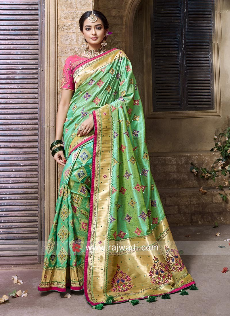 Silk Wedding Saree with Blouse