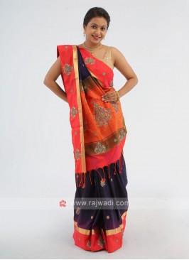 Silk Zardosi Work Saree