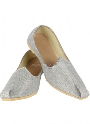 Silver colour Mojari for Men