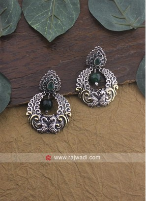 Silver Metalic Earrings