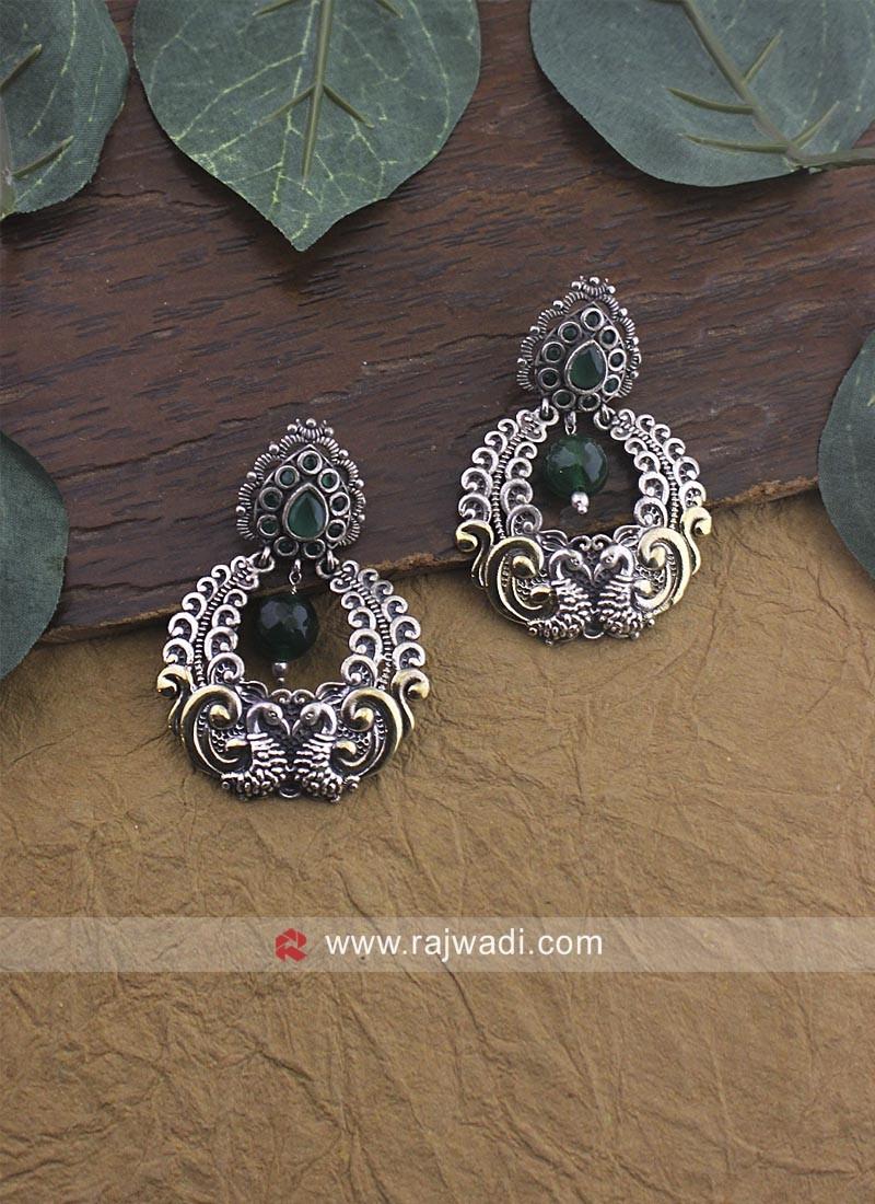 Silver Metalic Earrings