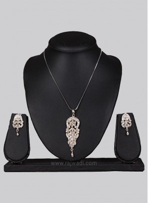 Silver Pendant Set with Earrings