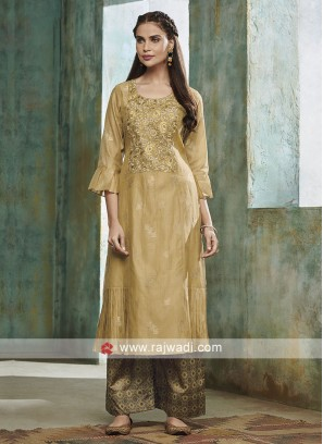 Skin Color Palazzo Suit