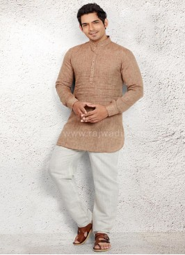 Skin coloured Pathani Suit