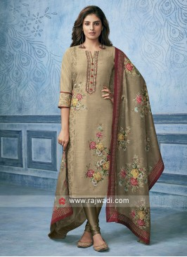 Skin Cotton Silk Salwar Kameez