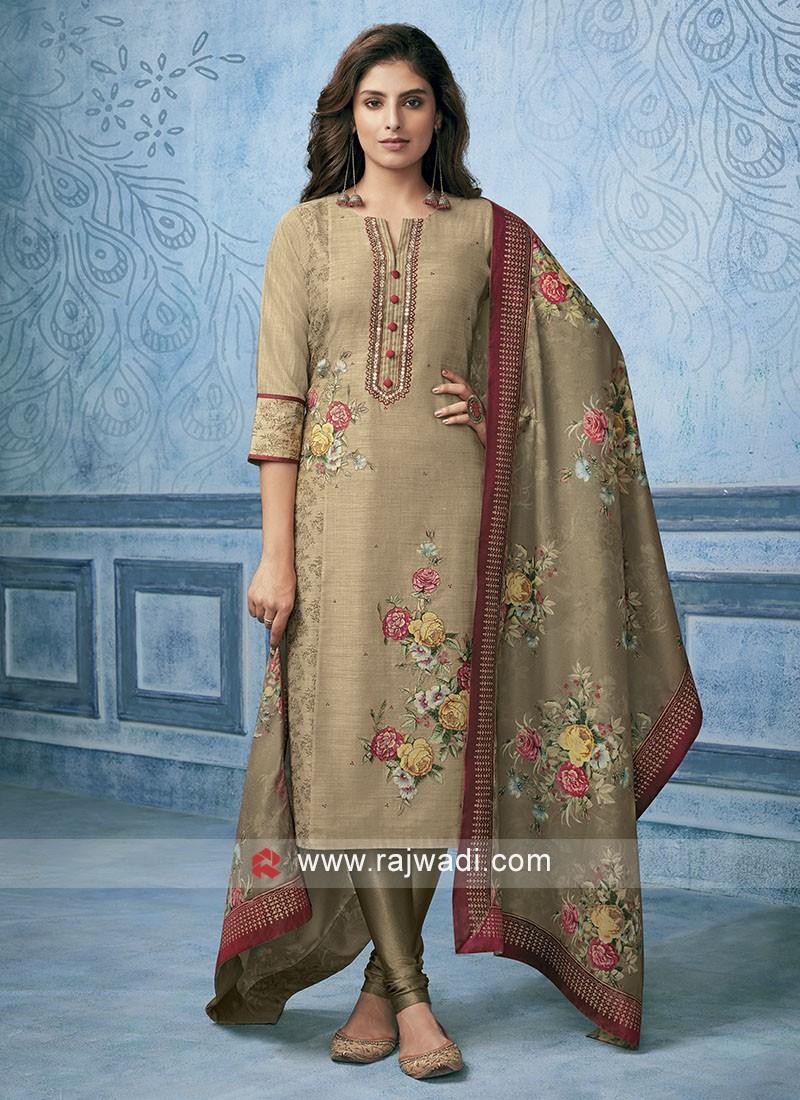 Skin Cotton Silk Salwar Kameez