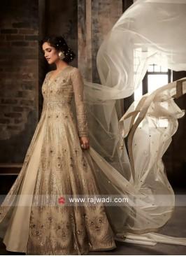 Skin Net Front Open Slit Salwar Kameez