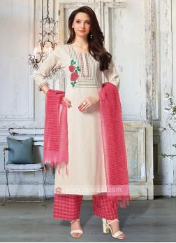 Skin & Rani Color Palazzo Suit