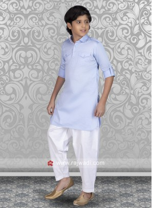Sky Blue Boys Pathani Suit