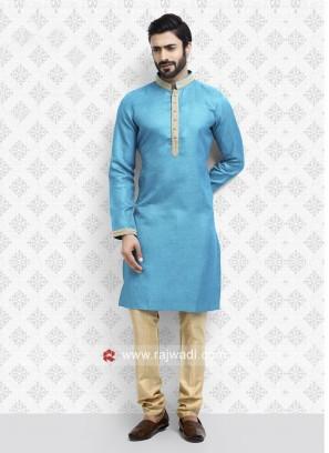 Sky Blue Casual Kurta Pajama