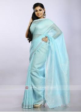 Sky blue color casual saree