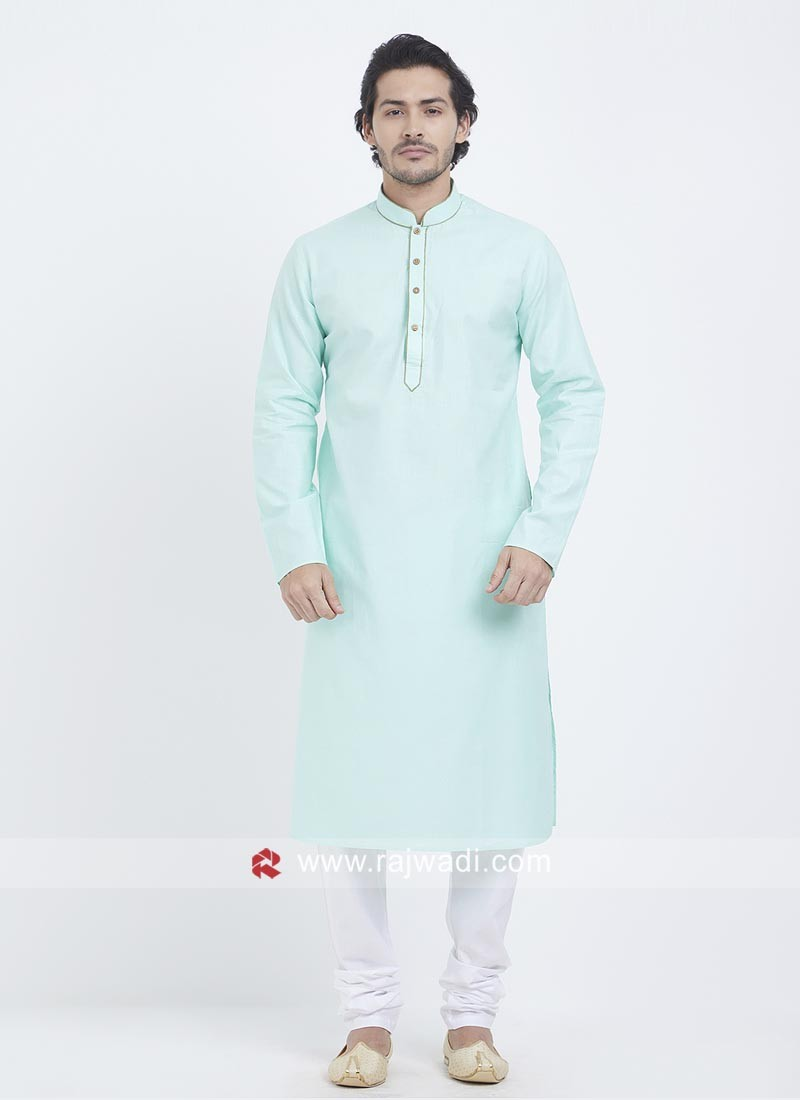 Sky Blue Color Kurta Pajama