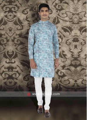 Sky Blue Color Kurta Set