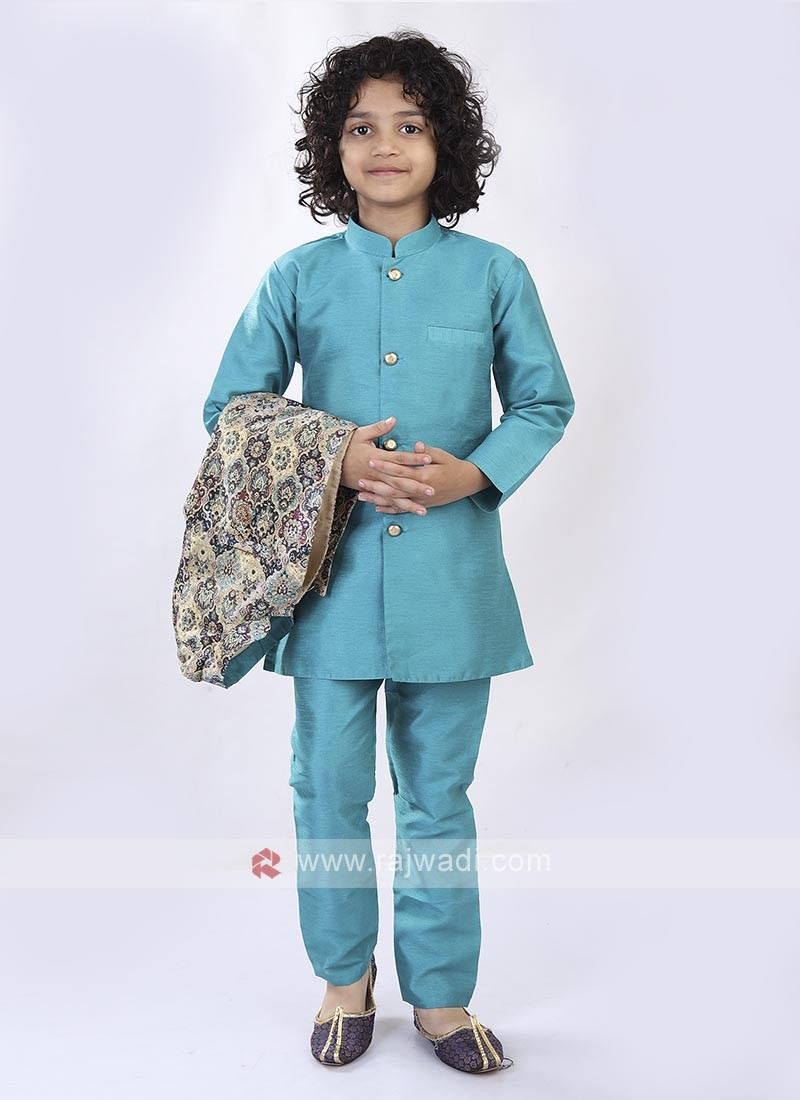Sky Blue Color Nehru Jacket