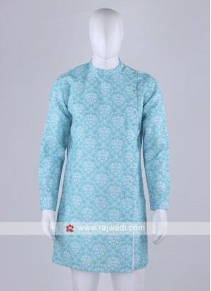 sky blue color printed kurta