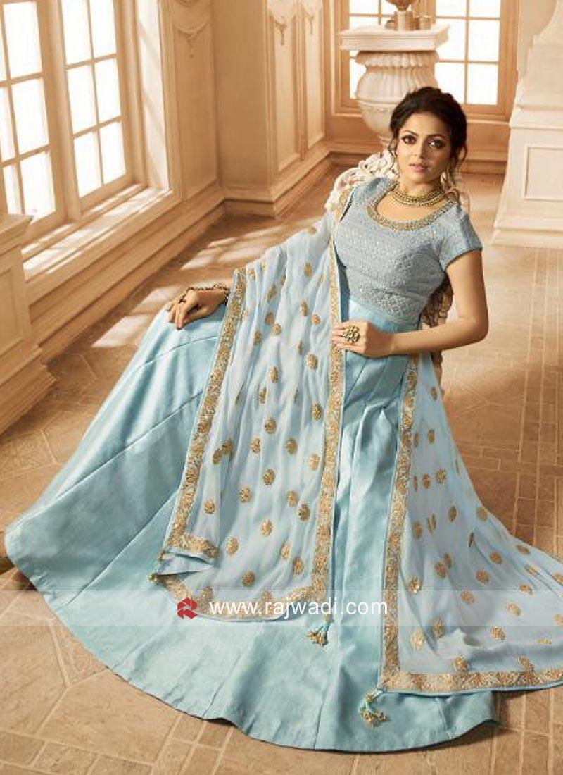 0cfaecb1d3b Sky Blue Drashti Dhami Salwar Kameez. Hover to zoom