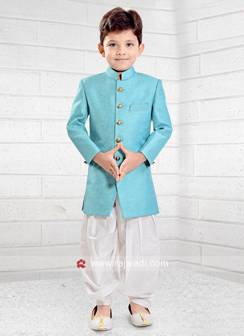 Sky Blue Indo Western for Boys