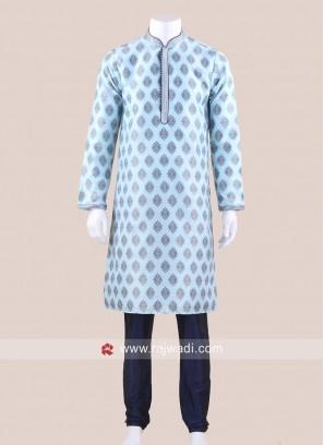 Sky Blue Kurta Pajama For Wedding