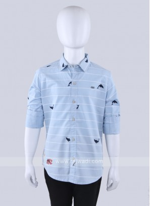 Sky Blue Lining  Shirt