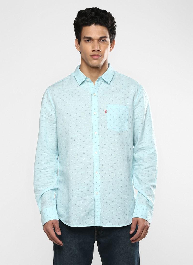 Levi's Sky Blue Printed Shirt