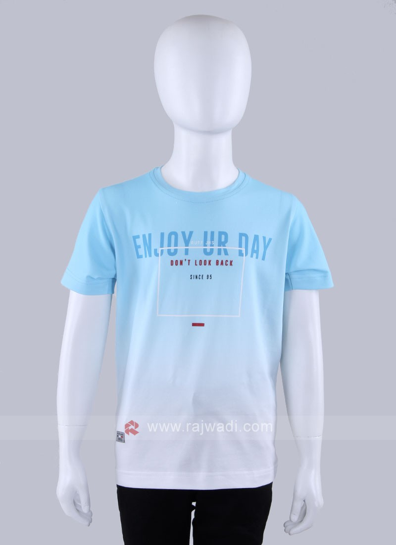 Sky Blue Shaded T-shirt