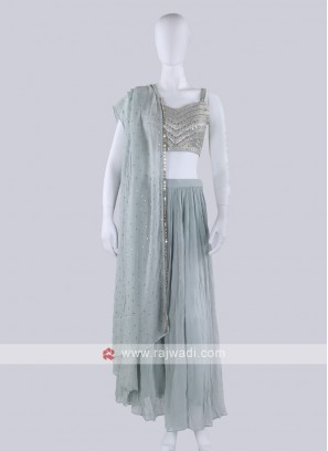 Slate Blue Palazzo suit
