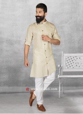 Dark Beige Color Pathani For Eid