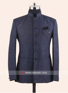 Slate Grey Jodhpuri Suit