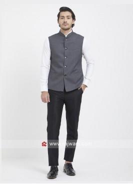 Slate Grey Mens Party Wear Koti