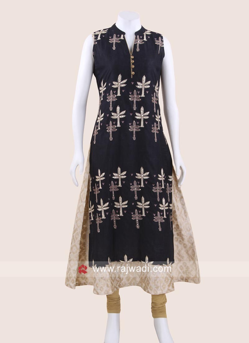 Sleeveless Double Layered Kurti